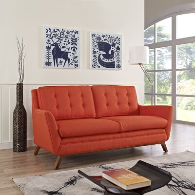Beguile Loveseat Upholstery: Atomic Red
