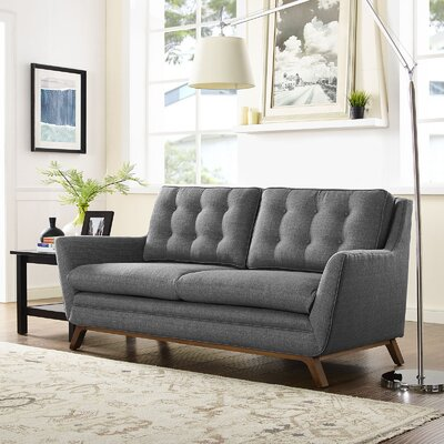 Beguile Loveseat Upholstery: Gray