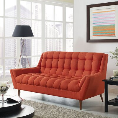 Freeborn Sofa Upholstery: Red
