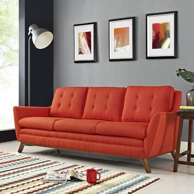 Beguile Sofa Upholstery: Atomic Red
