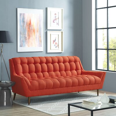 Response Sofa Upholstery: Red