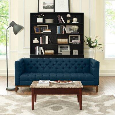 Panache Chesterfield Sofa Upholstery: Azure