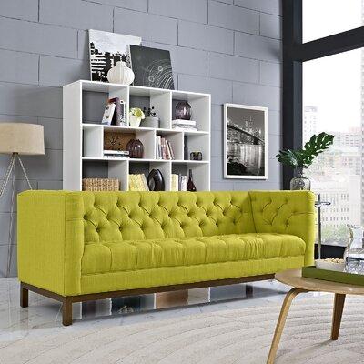 Panache Chesterfield Sofa Upholstery: Wheatgrass