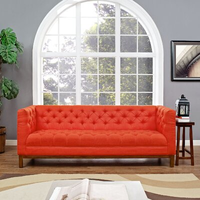 Panache Chesterfield Sofa Upholstery: Atomic Red