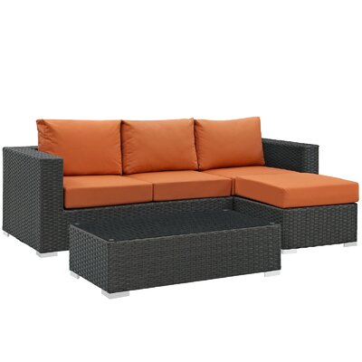 Sojourn 3 Piece Deep Seating Group with Cushion Fabric: Tuscan