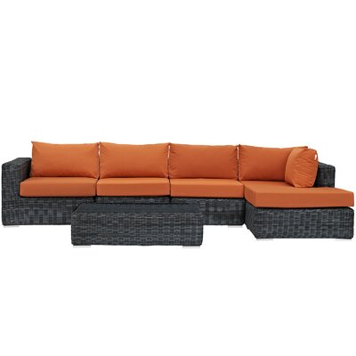 Summon 5 Piece Deep Seating Group with Cushion Fabric: Tuscan