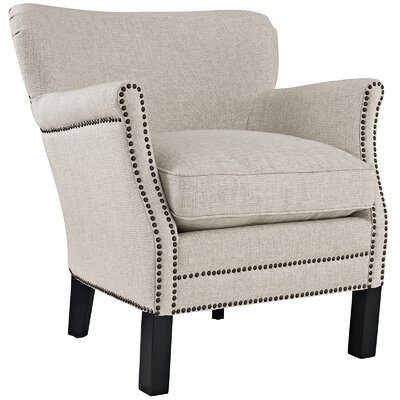 Key Wing back Chair Upholstery: Sand
