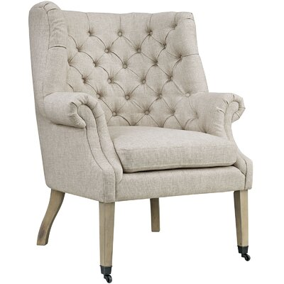 Chart Wing back Chair Upholstery: Sand
