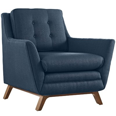 Beguile Fabric Armchair Color: Azure