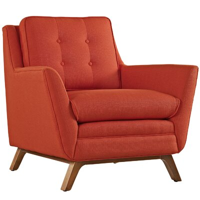 Beguile Fabric Armchair Color: Atomic Red