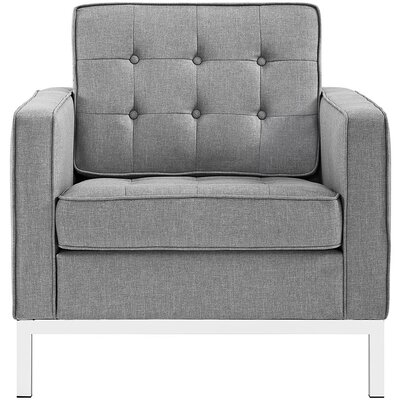 Gayatri Fabric Armchair Upholstery: Light Gray