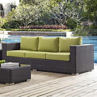 Ryele Sofa with Cushions Fabric: Peridot