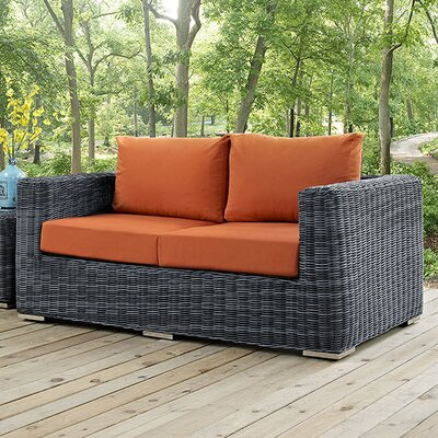 Summon Loveseat with Cushions Fabric: Tuscan