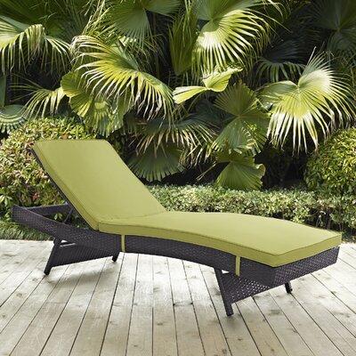Ryele Aluminum Framed Chaise Lounge with Cushion Fabric: Peridot