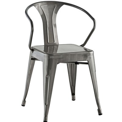 Ashlyn Arm Chair Finish: Gunmetal