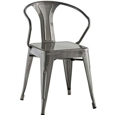 Ashlyn Arm Chair Finish: Gunmetal