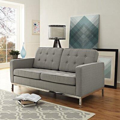 Gayatri Loveseat Upholstery: Granite