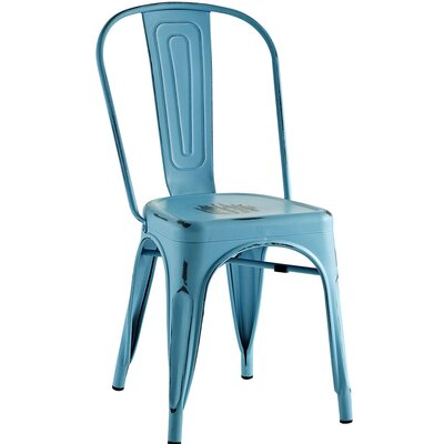 Promenade Side Chair Finish: Turquoise