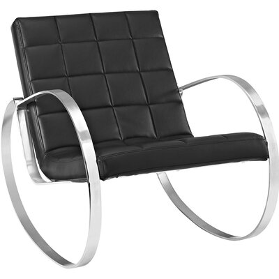 Gravitas Lounge Chair Upholstery: Black