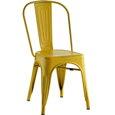 Ashlyn Metal Side Chair Finish: Yellow