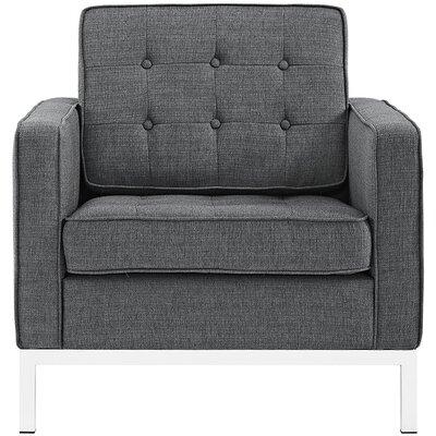 Gayatri Metal Fabric Armchair Color: Gray