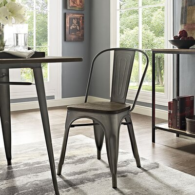 Ashlyn Dining Chair Finish: Brown