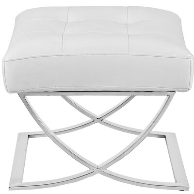 Slope Ottoman Upholstery: White