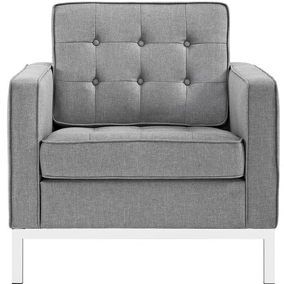 Gayatri Armchair Upholstery: Light Gray