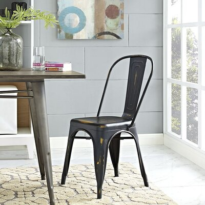 Ashlyn Metal Side Chair Finish: Copper