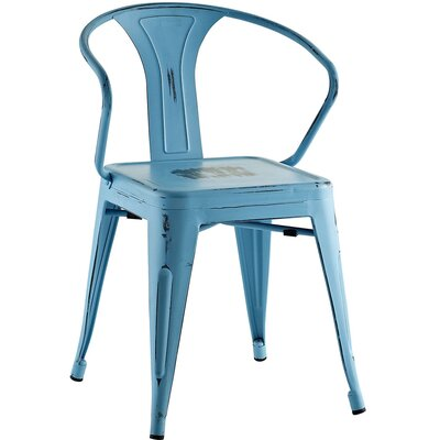 Ashlyn Arm Chair Finish: Turquoise