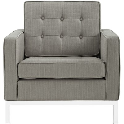 Gayatri Metal Fabric Armchair Upholstery: Granite