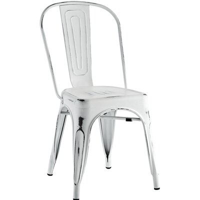 Ashlyn Metal Side Chair Finish: White