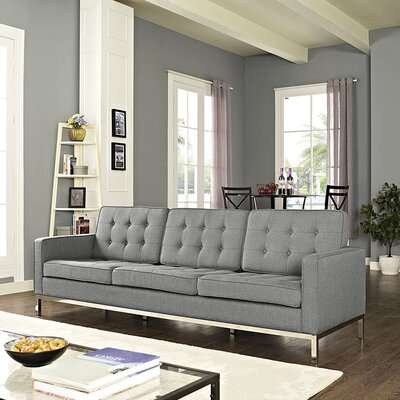 Gayatri Sofa Upholstery: Light Gray