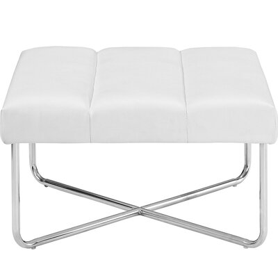 Reach Ottoman Upholstery: White