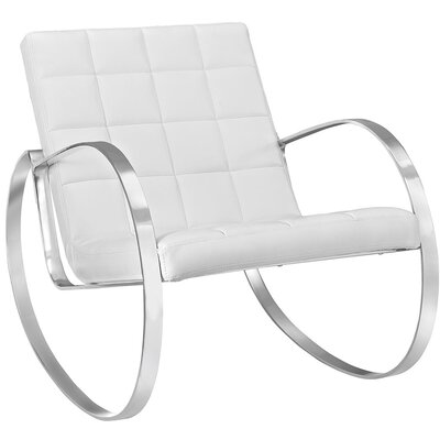 Gravitas Lounge Chair Upholstery: White