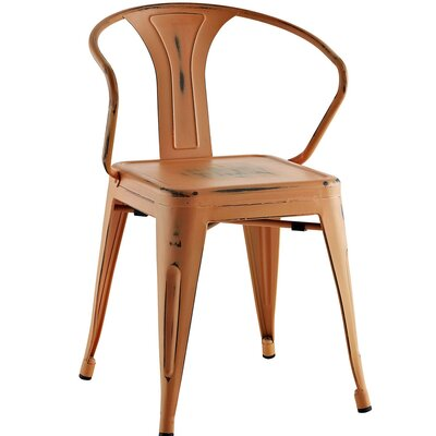 Ashlyn Arm Chair Finish: Orange