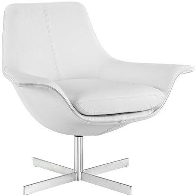 Release Lounge Chair Upholstery: White