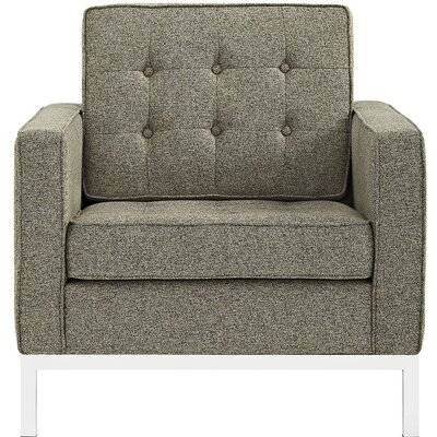 Gayatri Metal Fabric Armchair Color: Oatmeal