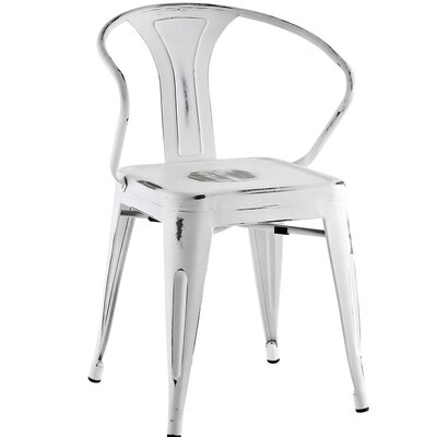 Ashlyn Arm Chair Finish: White