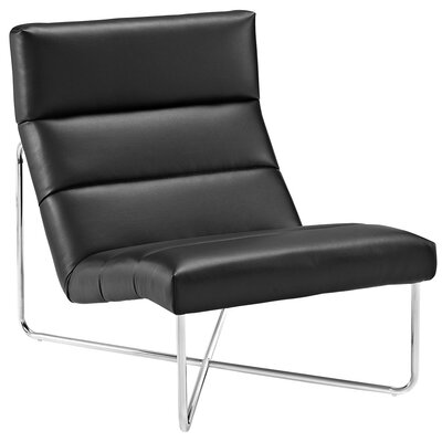 Reach Lounge Chair Color: Black
