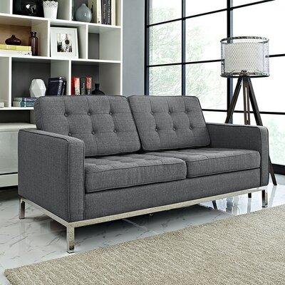 Loft Loveseat Upholstery: Gray