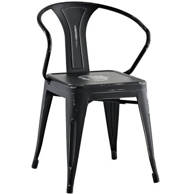 Ashlyn Arm Chair Finish: Black