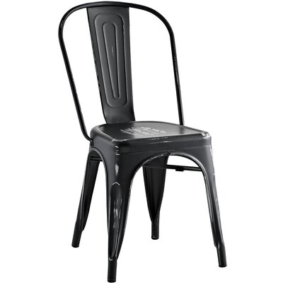 Ashlyn Metal Side Chair Finish: Black