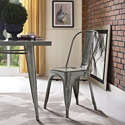 Ashlyn Metal Side Chair Finish: Gunmetal