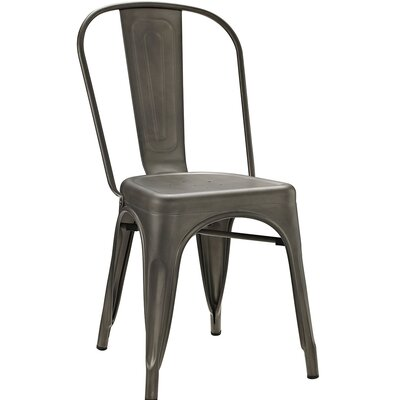 Promenade Side Chair Finish: Brown