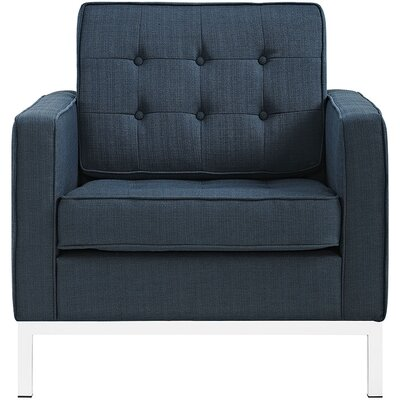 Gayatri Armchair Upholstery: Azure