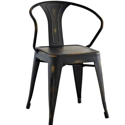 Ashlyn Arm Chair Finish: Copper