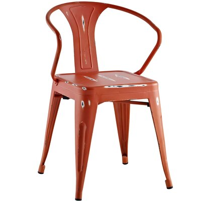 Ashlyn Arm Chair Finish: Red