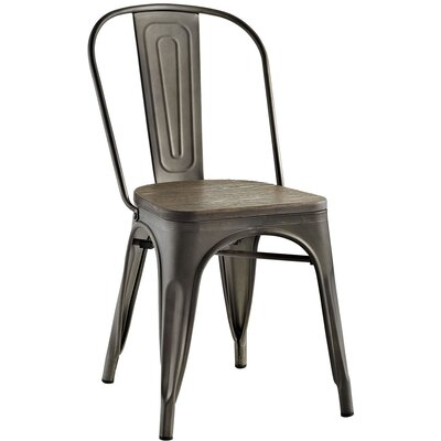 Ashlyn Side Chair Finish: Brown