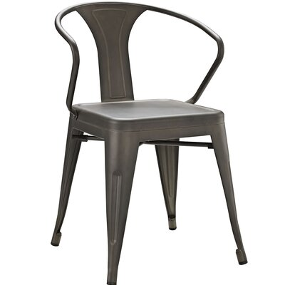 Ashlyn Arm Chair Finish: Brown